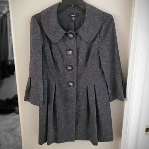 Gray tweed blazer/top